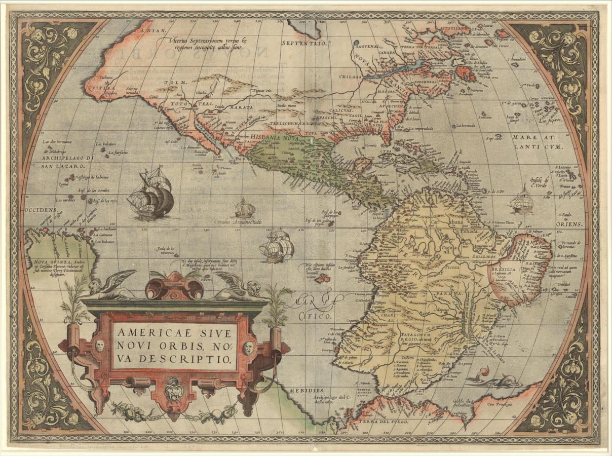 Screenshot - Mr. Vignaud's Maps - Map of the Americas © Stephen S. Clark Library
